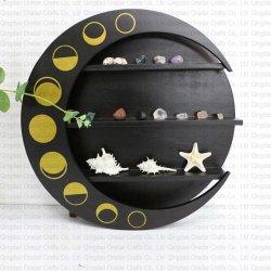 Wood moon shelf with cat shape - 3
