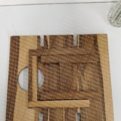 wood outdoor picnic table, foldable wine table  - 6