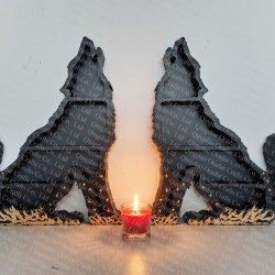 wooden wolf shelf for crystal shelf, witchy shelf - 3